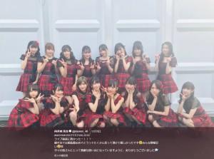『Maya Music Festival 2018』に出演したAKB48の16人(画像は『向井地美音 2018年12月10日付Twitter「#MAYAMUSICFESTIVAL2018 ライブ最高に熱かったー!!!」』のスクリーンショット)