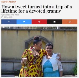 【海外発!Breaking News】「年金を節約して孫の卒業式に」願う祖母に航空会社やホテルから続々と温かいオファー(南ア)