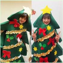 【エンタがビタミン♪】Negicco・Nao☆×アプガ森咲樹 まさかのクリスマスツリー被りに「私たち相思相愛だね」