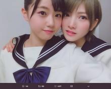 【エンタがビタミン♪】STU48岡田奈々&瀧野由美子 2ショットに「完全にカップルの写真!」