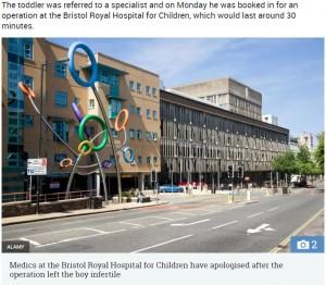 【海外発!Breaking News】30分で終わるはずの手術で「息子は去勢された」2歳男児の精巣手術で医療ミス(英)