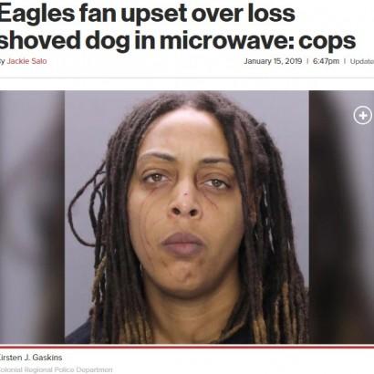 【海外発!Breaking News】応援するフットボールチームが負けて恋人と口論の女、電子レンジに犬を閉じ込める(米)