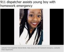 【海外発!Breaking News】「算数の宿題を手伝って」少年の911コールに快く対応したオペレーター(米)