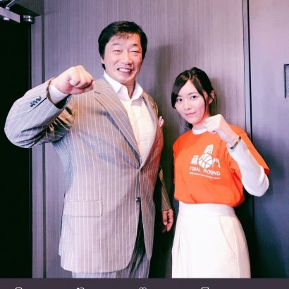 【エンタがビタミン♪】SKE48松井珠理奈が小橋建太と青春の握りこぶしポーズ DA PUMPともコラボ「いいねダンスが楽しすぎました」