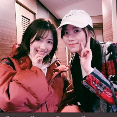 【エンタがビタミン♪】松井珠理奈&渡辺麻友、久々2ショットにファン歓喜「センネズ最高!」