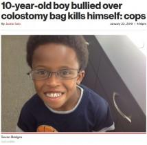 【海外発!Breaking News】慢性腸疾患を抱えた10歳少年 「臭い」といじめられ自殺(米)