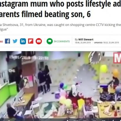 【海外発!Breaking News】我が子に暴行する姿が監視カメラに 非難殺到の母親「疲れて感情的になっただけ」と反論(ウクライナ)