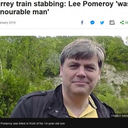 【海外発!Breaking News】電車内で刺殺事件 14歳息子の目の前で父親死亡(英)