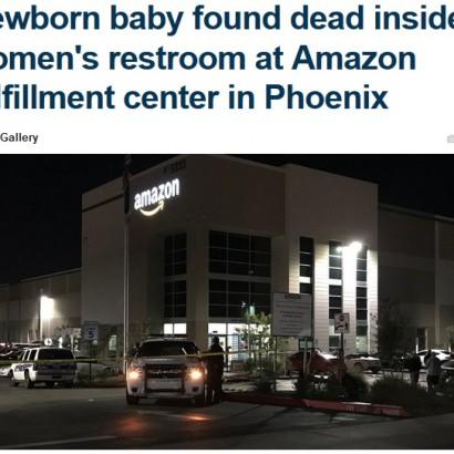 【海外発!Breaking News】Amazon発送センターの女子トイレで新生児の遺体見つかる(米)