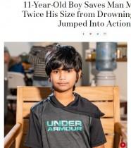 【海外発!Breaking News】11歳少年、プールの底から34歳男性を救助(米)