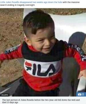 【海外発!Breaking News】井戸に落ちた2歳児の遺体発見 13日間の救助活動の末に(スペイン)