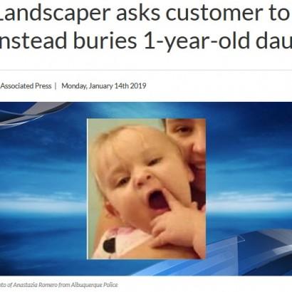 【海外発!Breaking News】庭師の男、依頼人の裏庭に1歳娘の遺体を「猫」と偽り埋める(米)