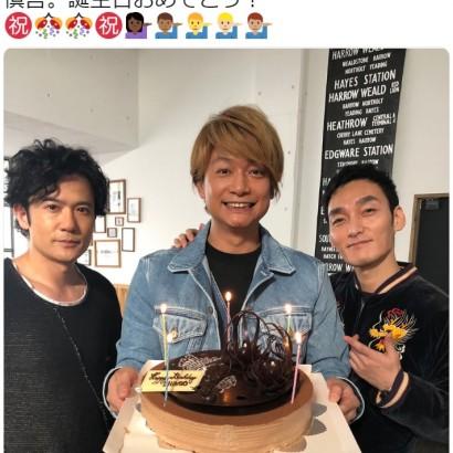 【エンタがビタミン♪】香取慎吾の誕生日を祝うケーキにファン感激 「キャンドル5本なんだ~」