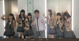 武井壮とHKT48メンバー(画像は『田中美久 2019年1月23日付Twitter「#AKBINGO! 胸キュン台詞」』のスクリーンショット)