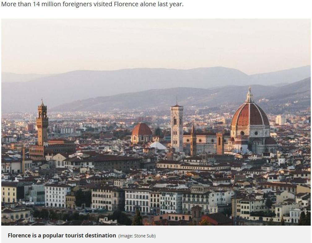 フィレンツェのジェラート店、観光客に3,000円超のアイス代を請求(画像は『Mirror 2019年1月10日付「Police called after tourist charged £22 for an ice cream at shop in Florence」(Image: Stone Sub)』のスクリーンショット)