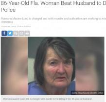 【海外発!Breaking News】86歳の妻、89歳夫を杖で殴り殺害 認知症が原因か(米)