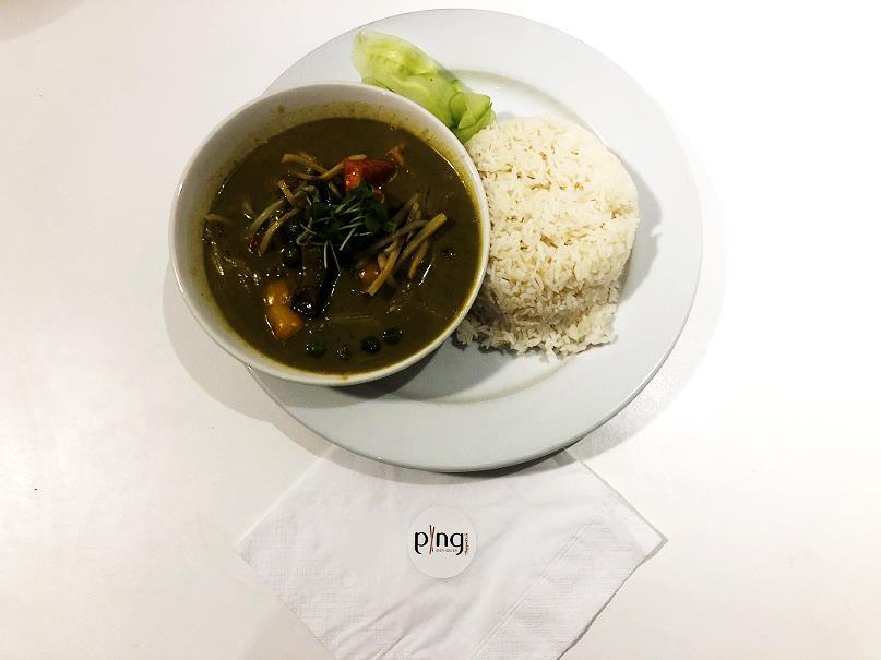 『グリーンカレー Green curry』(14.95ポンド=約2093円)