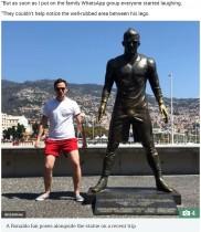 【海外発!Breaking News】クリスティアーノ・ロナウドの銅像、ある部分だけ触られすぎて変色(ポルトガル)