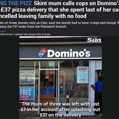 【海外発!Breaking News】子供達の為なけなしの金でドミノ・ピザを注文した母、ドタキャンされ警察に通報(英)