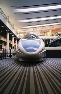 京都鉄道博物館の「500系新幹線」(画像は『芳根京子 2019年1月1日付Instagram「ほぉおおお」』のスクリーンショット)