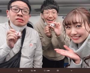 【エンタがビタミン♪】須田亜香里、お笑いコンビ・ミキと新幹線でバッタリ 「バレンタインチョコ」にまさかのお返し