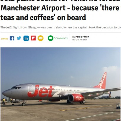 【海外発!Breaking News】機内で水が出ず進路変更 英LCC「ジェットツー・コム」に乗客ら怒り