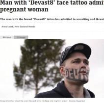 【海外発!Breaking News】顔に派手なタトゥーの再犯者、人生やり直しができない原因は「メディアの過剰報道」と発言(ニュージーランド)