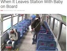 【海外発!Breaking News】座席に赤ちゃんを置いてホームで喫煙した父、動き出した電車に大慌て(米)
