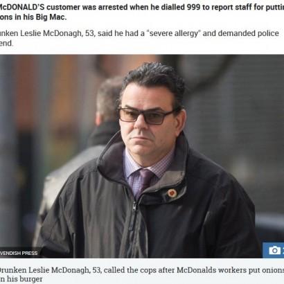 【海外発!Breaking News】「ビッグマックに玉ねぎが入っていた」と緊急通報した男が逮捕(英)