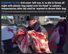 【海外発!Breaking News】氷点下の森で救助された6歳男児、母親による遺棄を告白「僕より犬を可愛がってた」(露)