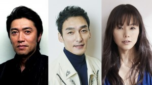 舞台『家族のはなし PART Ⅰ』に出演する池田成志、草なぎ剛、小西真奈美