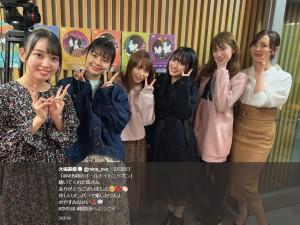 『AKB48グループラジオサミット』出演メンバー6人(画像は『大場美奈 2019年2月21日付Twitter「「#AKB48のオールナイトニッポン」聴いてくれた皆さんありがとうございました」』のスクリーンショット)
