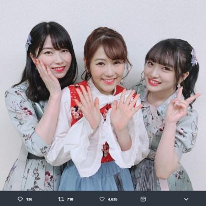 【エンタがビタミン♪】AKB48横山由依&向井地美音 『ダウンタウンDX』収録で西野未姫と遭遇