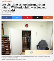 【海外発!Breaking News】学校の「懲罰部屋」に児童を閉じ込めたまま帰宅した教師が逮捕(南ア)