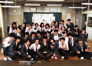『3年A組』キャストたちが菅田将暉の誕生日を祝福(画像は『菅田将暉 2019年2月22日付Twitter「ありがとう。#3A」』のスクリーンショット)