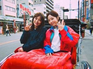 木南晴夏の『パン旅。』にゲスト出演した内田理央(画像は『内田理央 だーりお 2019年2月21日付Instagram「本日19時~(30分)NHKのBSプレミアムでパン旅に出演します」』のスクリーンショット)