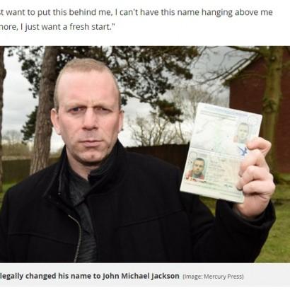 【海外発!Breaking News】マイケル・ジャクソンに改名した男性、本来の名前に戻すべく募金集める(英)