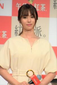 『キリン 午後の紅茶』新TVCM発表会にて深田恭子
