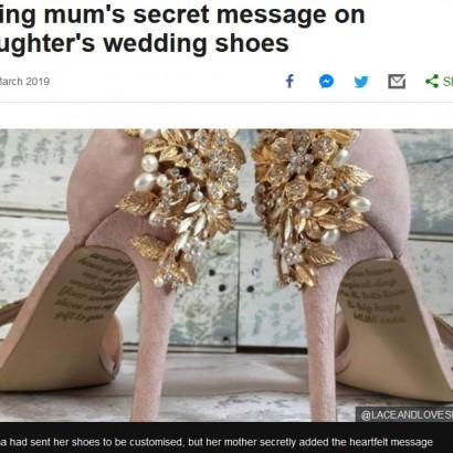 【海外発!Breaking News】末期がんの母、結婚する娘へ思いを込めたウエディングシューズを贈る(英)