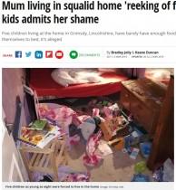 【海外発!Breaking News】5人の子供達とゴミ屋敷で暮らす妊婦に「孫を渡せ!」と祖母(英)