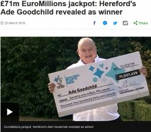 【海外発!Breaking News】工場勤務の58歳男性、宝くじで100億円以上をゲット(英)