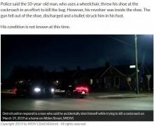 【海外発!Breaking News】ゴキブリを撃退しようとした男性、誤って自分の足を銃で撃つ(米)