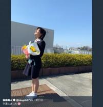 """【エンタがビタミン♪】SKE48後藤楽々""""高校卒業""""ショットにファン感慨「なんか…泣けてきた」"""