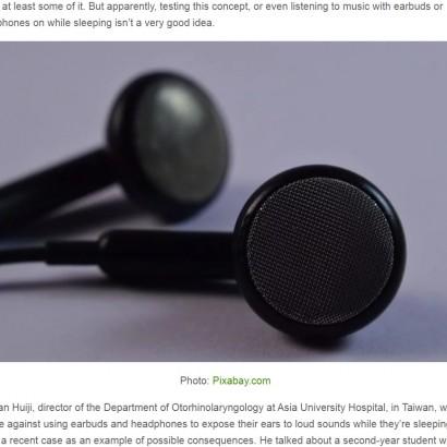 【海外発!Breaking News】イヤホンで音楽を聴きながら就寝、翌朝に片方の耳が聞こえなくなった男性(台湾)