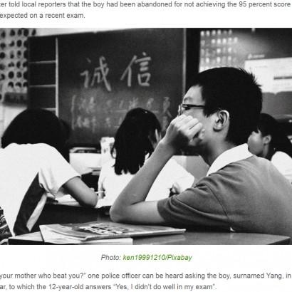 【海外発!Breaking News】試験で81点をとった息子(12)を路上遺棄した母、警察に「できない子は要らない」引取り拒否(中国)