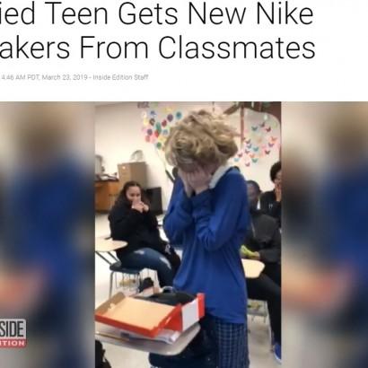 【海外発!Breaking News】いじめられていた15歳少年、転校先でのサプライズに涙 「君はかけがえのない存在」(米)<動画あり>