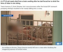 【海外発!Breaking News】「食中毒と思った」父親、大量の水を5歳娘に飲ませて命の危機に(ウクライナ)