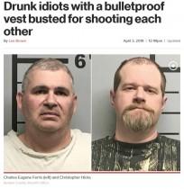 【海外発!Breaking News】「俺を撃ってみて」 防弾チョッキを着て撃ち合いの酔っ払い2人逮捕される(米)