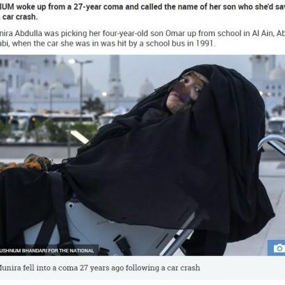 【海外発!Breaking News】事故で昏睡状態の母親 27年ぶりに意識が戻り息子の名を呼ぶ(UAE)