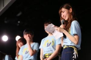 NGT48チームG『逆上がり』千秋楽公演にて卒業を発表した山口真帆(C)AKS